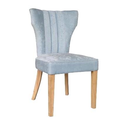 Vienna Silver Blue Fabric Chair set of 2
