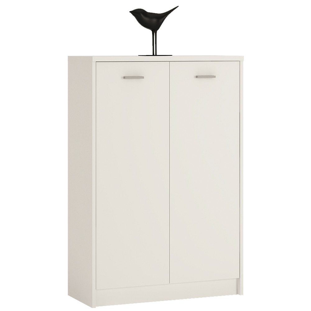Image of 4 You Tall 2 Door Cupboard In Pearl White