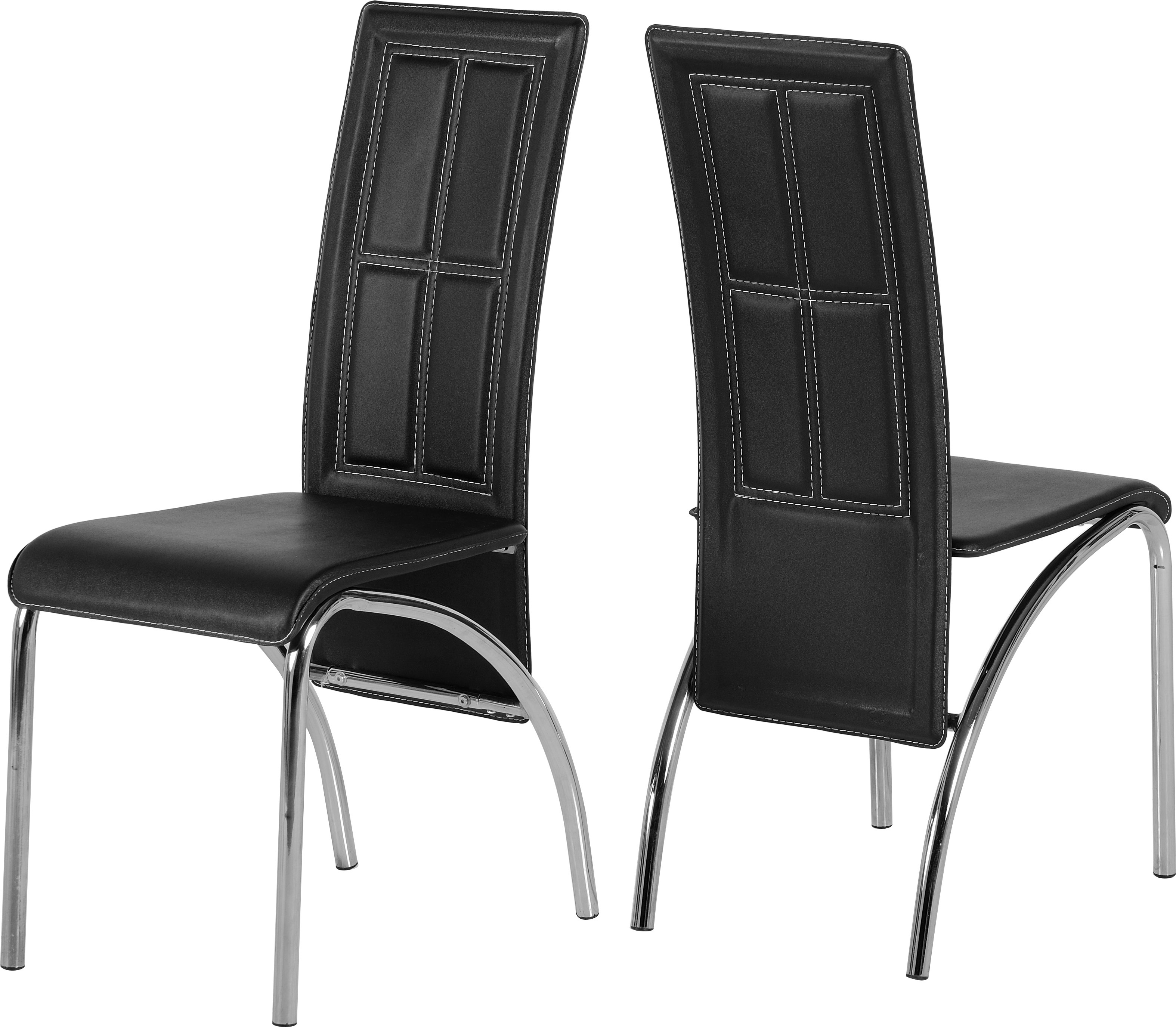 Image of A3 Chair in Black & Chrome set of 2
