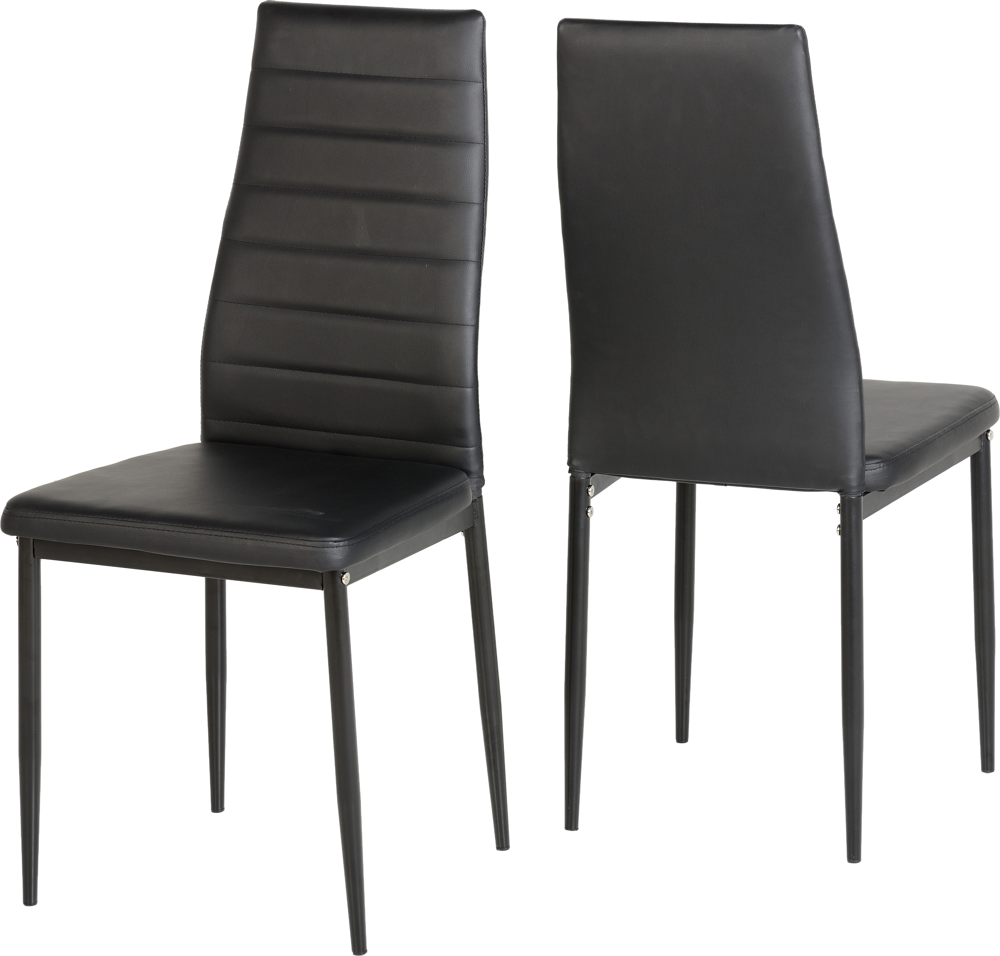 Image of Abbey Chair in Black set of 2