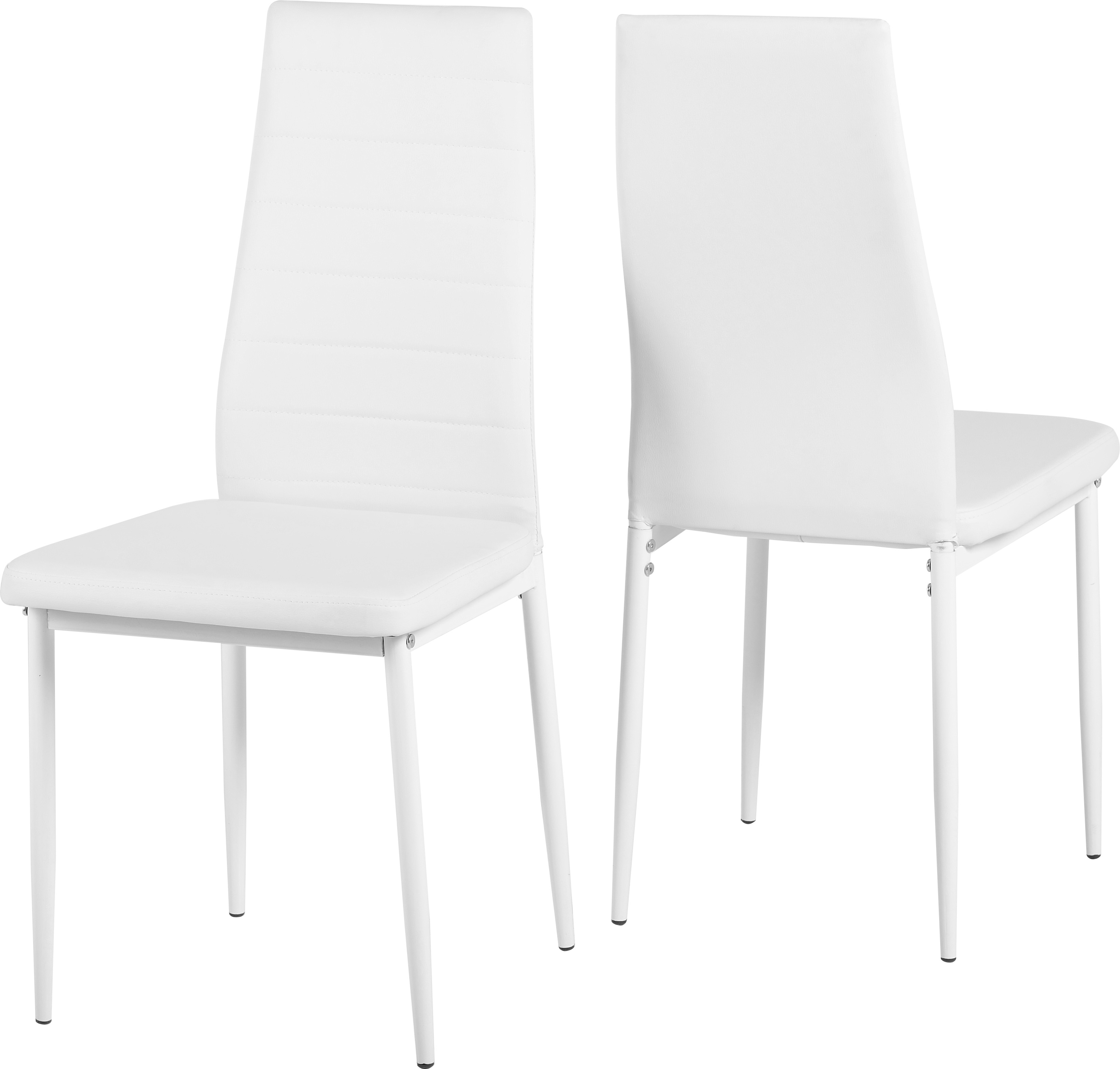 Image of Abbey Chair in White set of 2