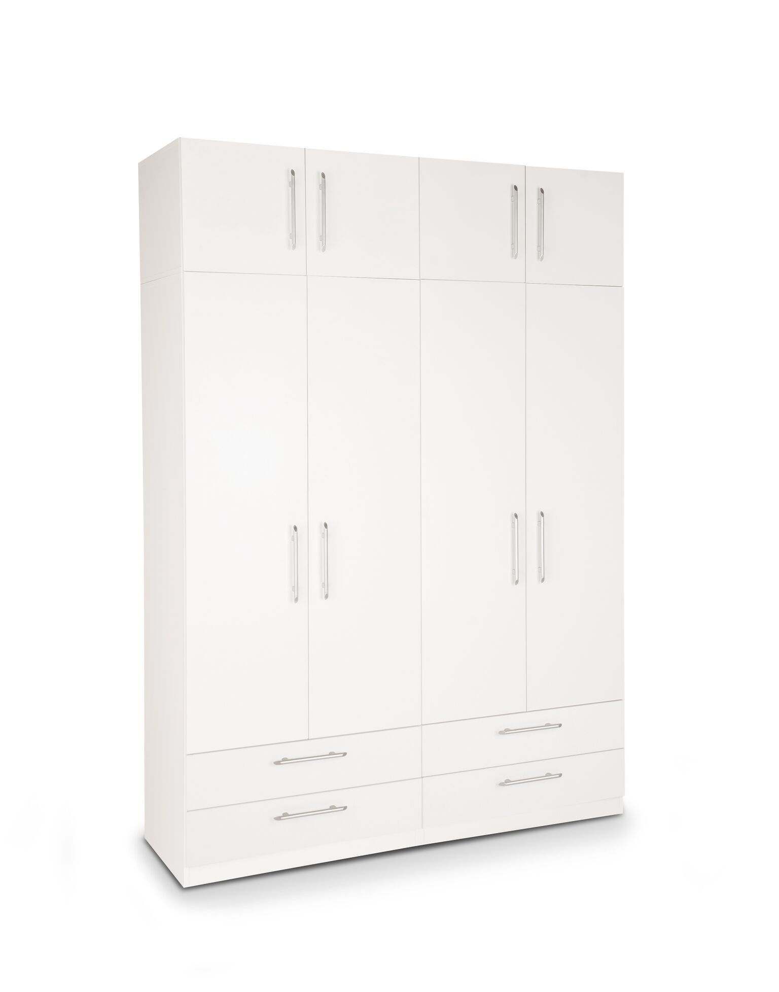 Image of Acton Plus 4 Door Wardrobe With 4 Wide Drawers