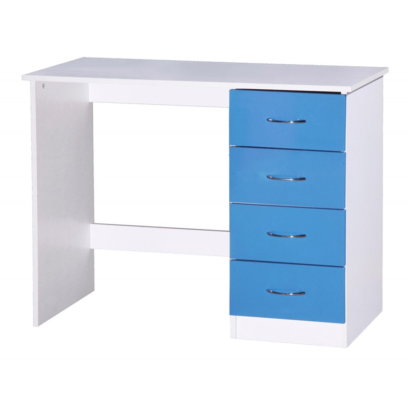 Image of Alpha Blue Gloss & White Dressing Table