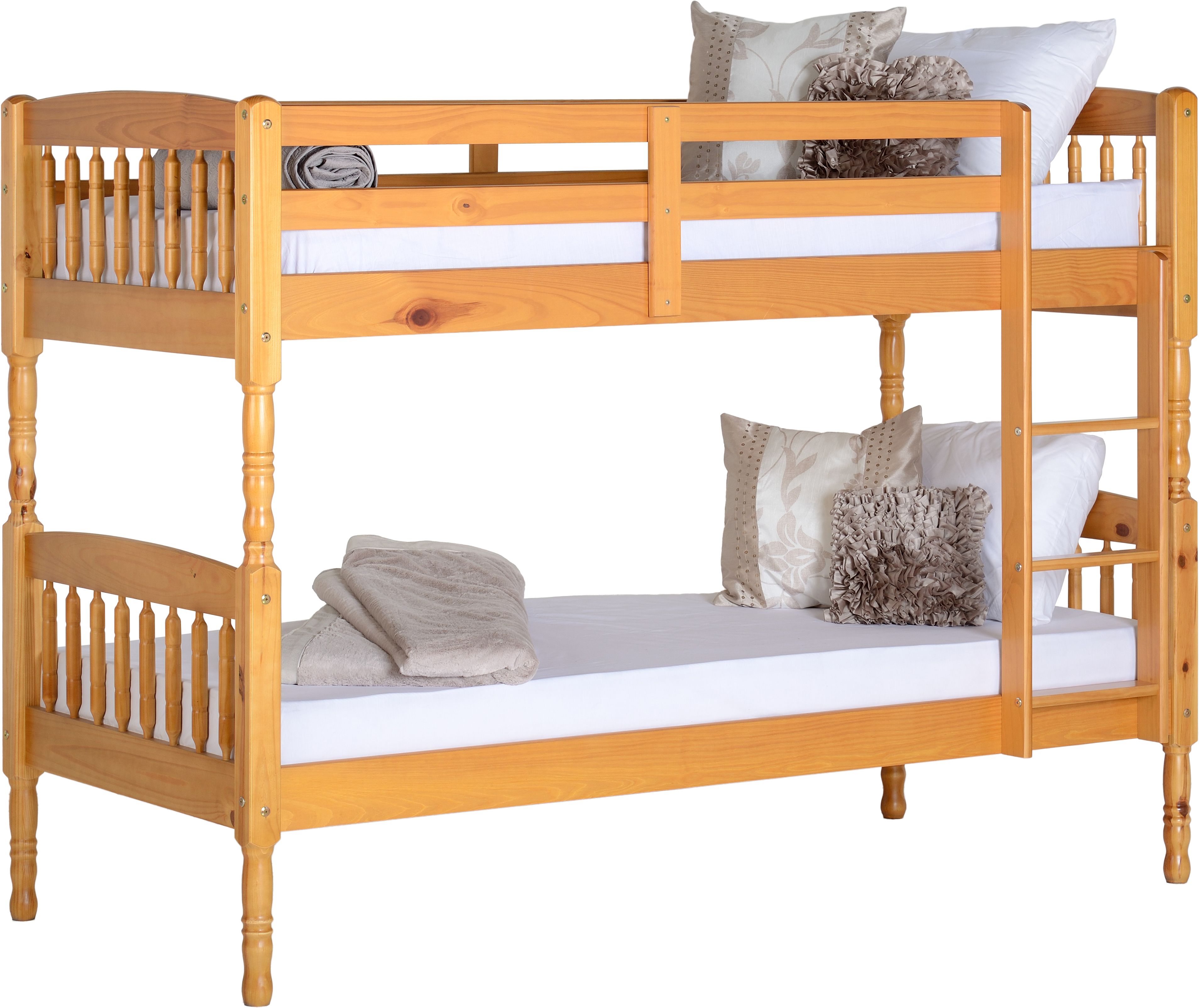 Image of Albany Single Bunk Bed in Antique Pine