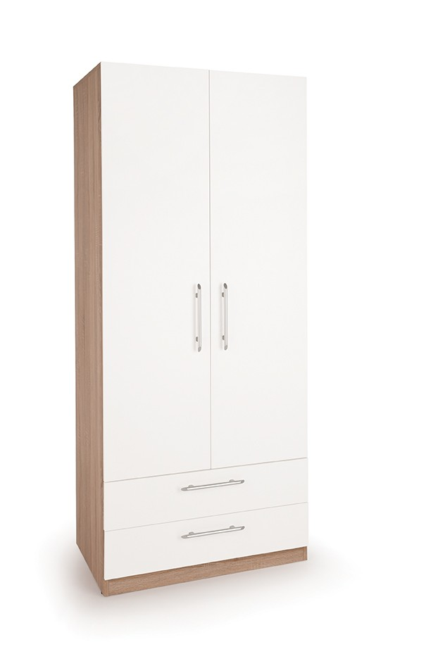 Connect Hyde 2 Door Wardrobe with Drawers -Oak