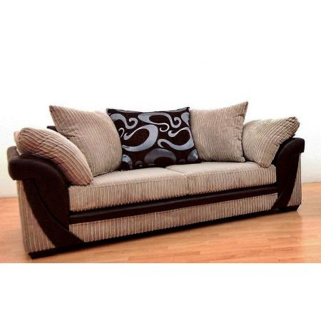Lush 3 Seater Fabric Hand Crafted Sofa