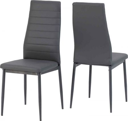 Abigail Dining Chair x 2 Faux Leather