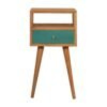 Mini Teal Hand Painted Bedside