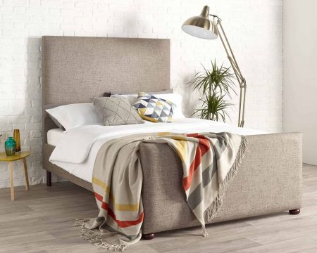 Jersey Modern Bed Frame Luxury Yorkshire Knit Wool Style Fabric with Solid Feet