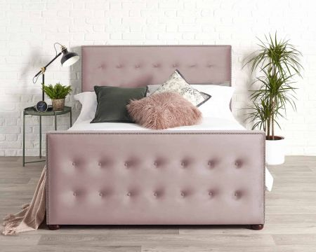 Leonna Modern Bed Frame Luxury Plush Velvet with Solid Feet