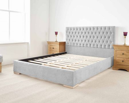 Hamley Modern Bed Frame Luxury Kimiyo Linen with Solid Feet