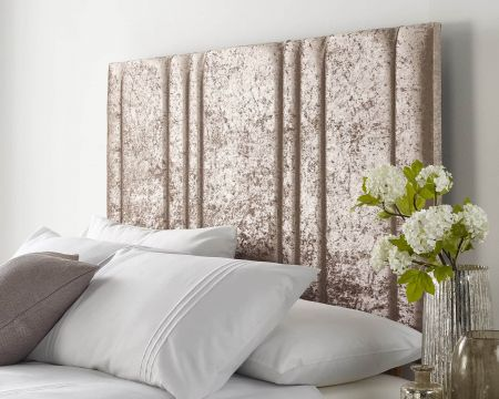 Catherine Lansfield Deco Collection Empire Headboard Mink Handcrafted in the UK Available in All Sizes