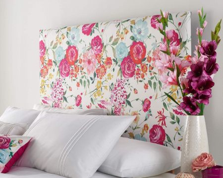 Catherine Lansfield Salisbury Headboard Linen White Handcrafted in the UK Available in All Sizes