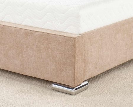 Brookes Modern Bed Frame Luxury Kimiyo Linen with Solid Feet