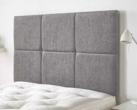 Prestwood Headboard Firenza Fabric and Kimiyo Linen Handcrafted in the UK Available in All Sizes