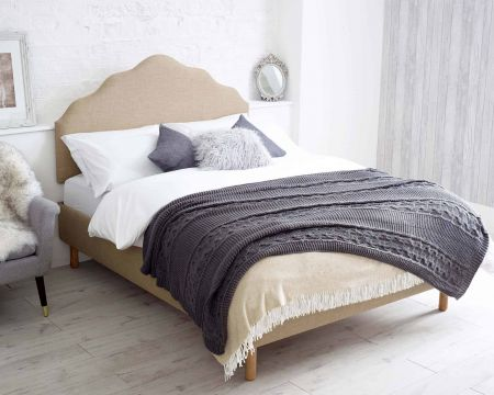 Sierra Headboard Malham Weave Fabric Handcrafted in the UK Available in All Sizes