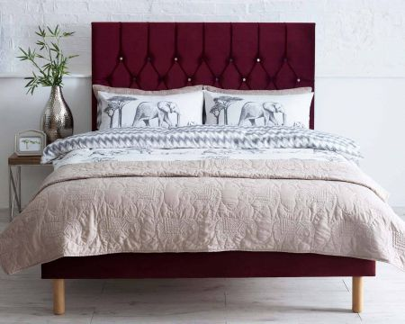 Catherine Lansfield Boutique Collection Headboard Plush Velvet Handcrafted in the UK Available in All Sizes