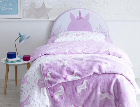 Catherine Lansfield Kids Headboard Linen Fabric Handcrafted in the UK Available in All Sizes