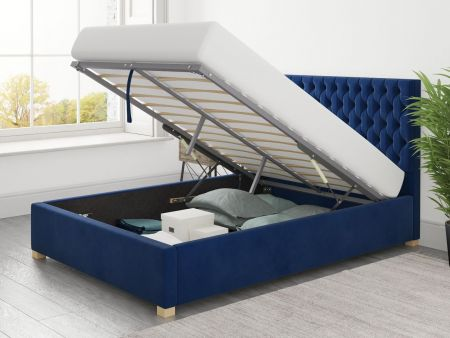 Mania Upholstered Ottoman Bed Handcrafted