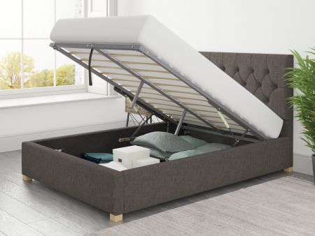 Fabian Fabric Ottoman Bed Handcrafted