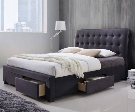 Avita 4 Drawer Dark Grey Storage Bed