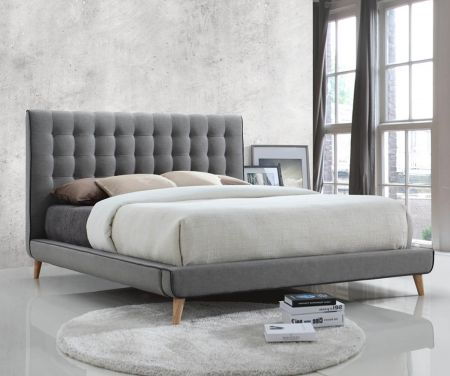 Lennox Grey Fabric Bed