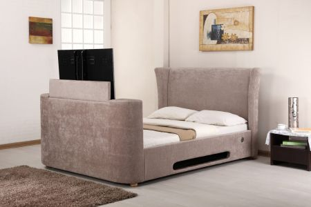 Lilia Fabric Music TV Bed