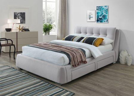 Geneva Dark Fabric Bed