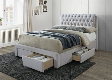 Luxuris Dark Fabric Bed