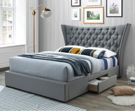 Classicana Light Grey Fabric Bed
