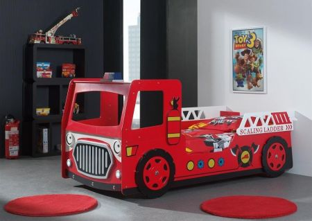 Red Fire Engine Kids Bed