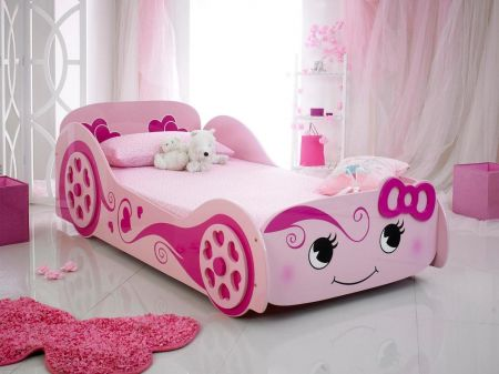 Lucy Princess Love Bed Novelty Bed - Pink