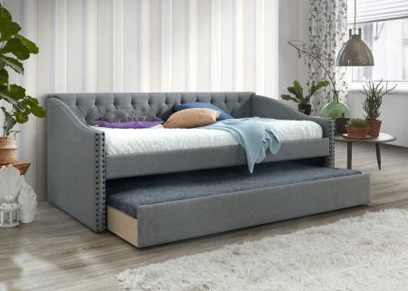 Osprin Guest Bed - Grey Fabric