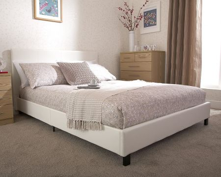 Bed In A Box Faux Leather Bedstead
