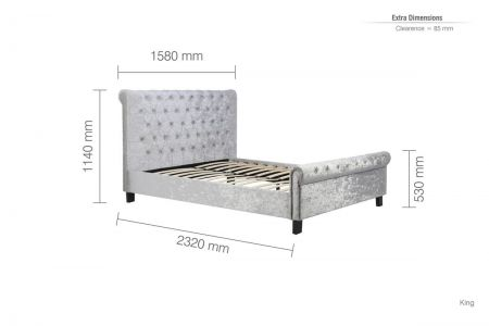 Paige Fabric Bed
