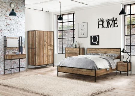 Thomas Rustic Wooden Bed