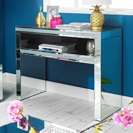Biars Mirrored Console Table