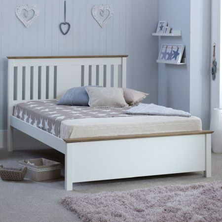 Cariso White Wooden Bed Frame