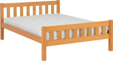 Carlow Wooden Bed - Antique Pine