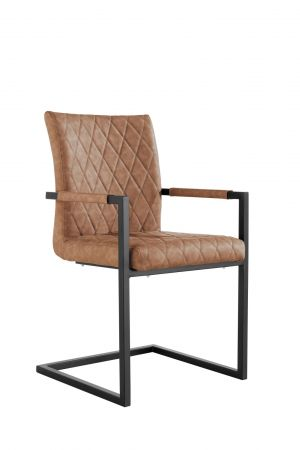 Criten Diamond Stitch Carver Chair