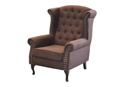 Brixton Wing Back Chair - Grey