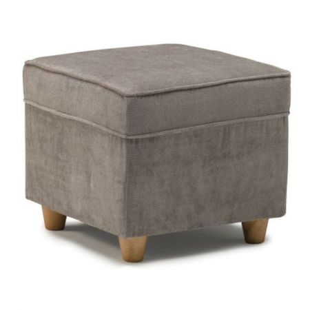 Clifton Footstool Silver