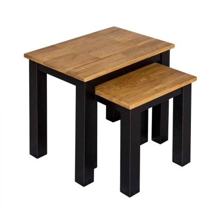 Chile Nest of Tables Black Frame-Oiled Wood