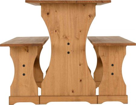 Coroso Dinette Set Distressed Waxed Pine