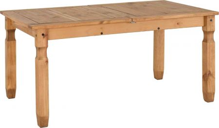 Coroso Extending Dining Table Distressed Waxed Pine