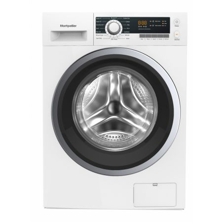 Montpellier White 9kg 1400 Spin Washing Machine With Inverter Motor