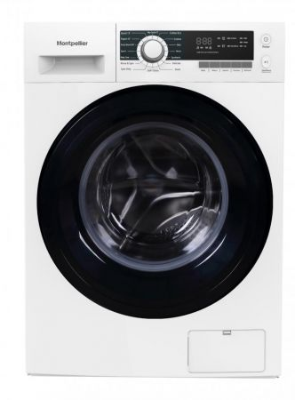 Montpellier White 10kg 1400 Spin Washing Machine With Inverter Motor
