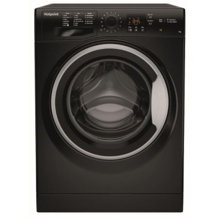Hotpoint Black 7kg 1400 Spin Washing Machine