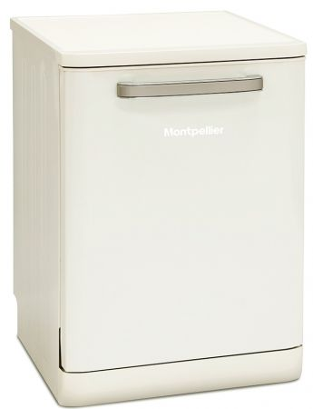 Montpellier Cream Retro Full Size Freestanding Dishwasher