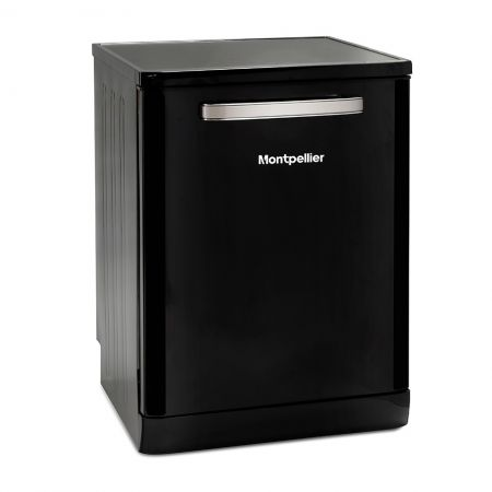 Montpellier Black Retro Full Size Dishwasher